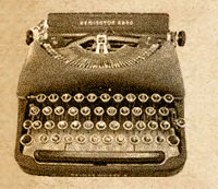 Print Journalist Typewriter